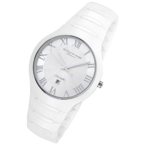 Mens White Ceramic Watches - Cirros Milan By Rougois Empire Series White on White Ceramic Watch