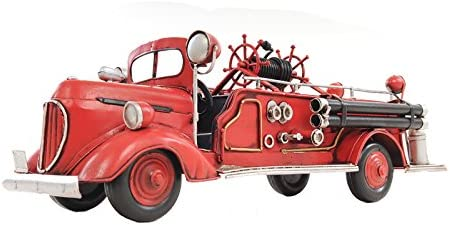 Old Modern Handicrafts 1938 Fire Engine Ford Collectible, 1 40-Scale, Red