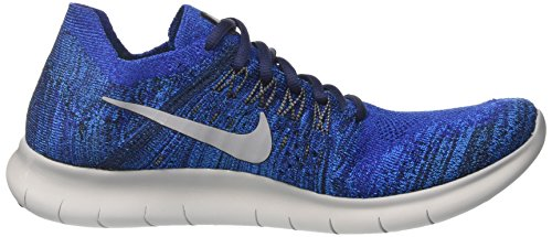 Nike Herren Free Rn Flyknit 2017 Laufschuhe Blau (Deep Royal Blue/photo Blue/pure Platinum/wolf Grey)