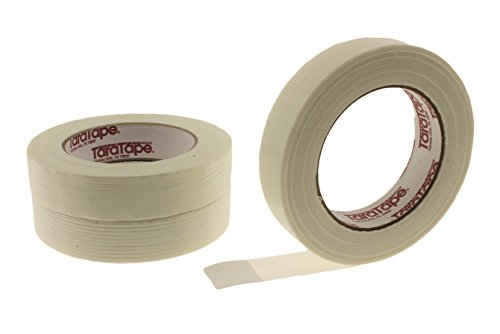 3pk 1 x 60 yd Fiberglass Reinforced Strapping Filament Tape 3.9 Mil Thickness (.94 in, 24 MM)