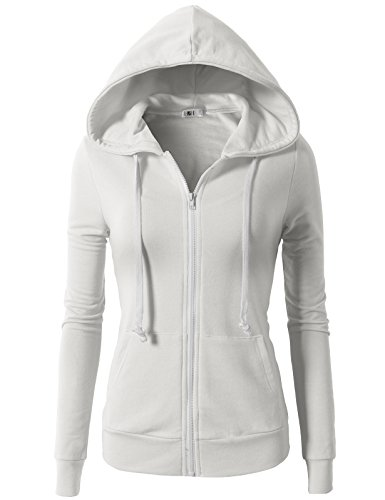 H2H Women Active Regular Fit Zipper Closure Long Sleeve Hoodie Jacket White US 2XL/Asia 2XL (CWOHOL020)