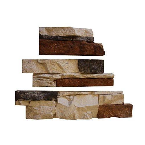 Native Custom Stone Go-Stone #18 Coastal Blend Flats 4 in. x 8 in., 4 in. x 12 in., 4 in. x 16 in. Stone Panels (5 sq. ft./Box) (Side Refrigerator Custom Panel)