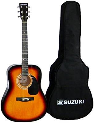 Suzuki sdg2sb guitarra Folk Sunburst Beige: Amazon.es ...