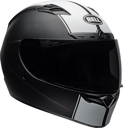 Bell Qualifier DLX Full-Face Motorcycle Helmet (Rally Matte Black/White, Medium)