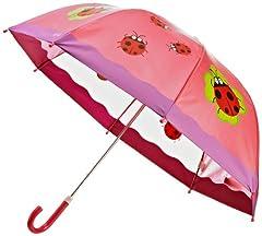 Playshoes 448583 Glückskäfer Regenschirm, Rosa