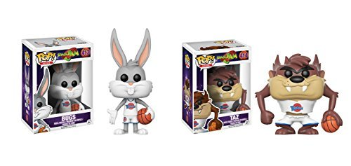 Funko POP! Movies Space Jam : Bugs Bunny and Taz Toy Action Figure - 2 POP BUNDLE