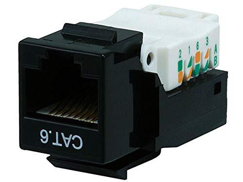 Monoprice Cat6 RJ-45 Toolless Keystone, Black (101039)