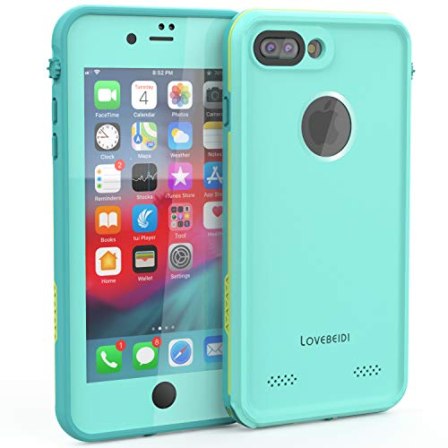 LOVE BEIDI iPhone 8 7 Plus Waterproof Case Cover Built-in Screen Protector Fully Sealed Life Shockproof Snowproof Underwater Protective Cases for iPhone iPhone 8 7 Plus 5.5