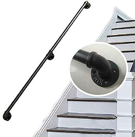 Barandilla de la escalera barandilla pasamanos - montado en la pared pasamanos Barandilla antideslizante del hierro del tubo de agua de diseño escalera escaleras Pasamanos barandilla barra de apoyo: Amazon.es: Deportes y