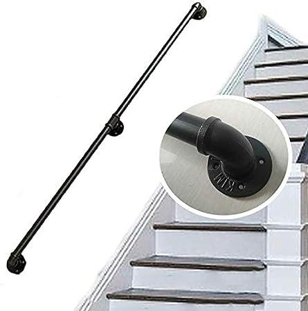 Barandillas Barandilla de la escalera barandilla pasamanos montado en la pared pasamanos Barandilla |Soporte AntiSlip Hierro Tubería de agua de diseño escalera escaleras Pasamanos barandilla carril: Amazon.es: Hogar