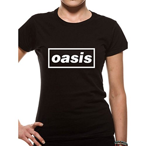 Oasis T Shirt Band Logo Definitely Maybe Album Official Mens Black Official Logo Fashion Tee