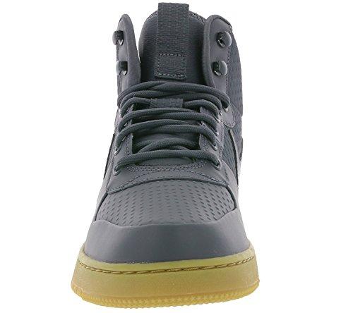 Nike Herren Court Borough Mid Winter Schuhe dark grey-dark grey-hyper crimson (AA0547-001)