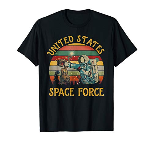 (United States Space Force Punch Retro Vintage Sunset Tshirt)