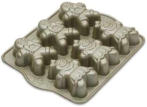 Nordic Ware 86948 Cast Aluminum 4.5 Cup Gingerbread Kids Baking Pan by Nordic Pure