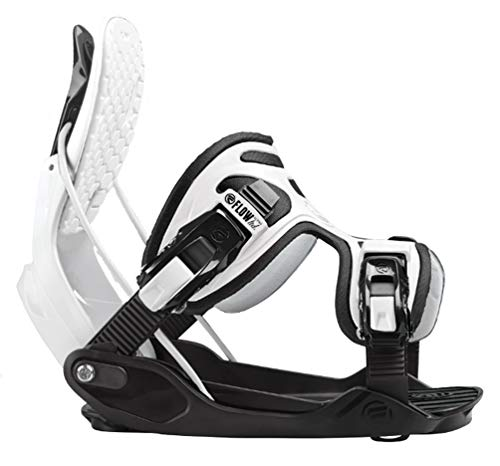 Flow 2020 Alpha White Stormtrooper Snowboard Bindings - Large - Upgraded