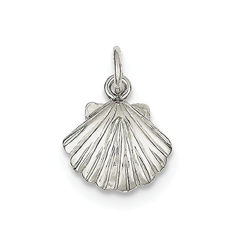 Scallop Sea Shell Ocean Charm in 925 Sterling Silver ()