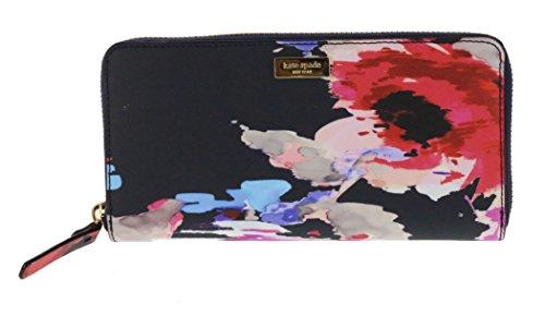 (Kate Spade New York Neda Laurel Way Printed Zip Around Wallet (Blurry Floral))