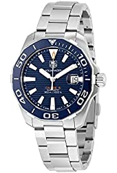 Tag Heuer Men's WAY211C.BA0928 Analog Automatic Sapphire Crystal Aquaracer Stainless Steel Watch with Case