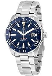 Tag Heuer Men's Aquaracer Steel Bracelet & Case Sapphire Crystal Automatic Black Dial Watch WAY211C.BA0928