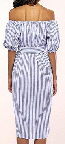 Belted Picture Womens Dress Stripe As Shoulder Sleeve Jaycargogo Short Off 7YZdwqz74