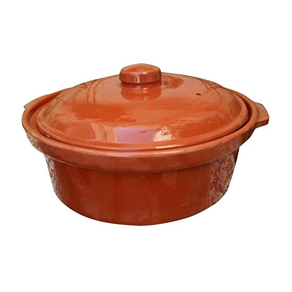 Casserole Dish, Casserole Dish, Cooking Tureen, Clay Covered Casserole for Slow Cooking 1 Cook Chicken, Meat, Seafood or Vegeterian food Handcraft Authentic Casserole, for Cooktop or Oven, Made in Tunisia Cooking in clay greatly enhances the flavor and preserves more of the nutritional value of cooked foods.