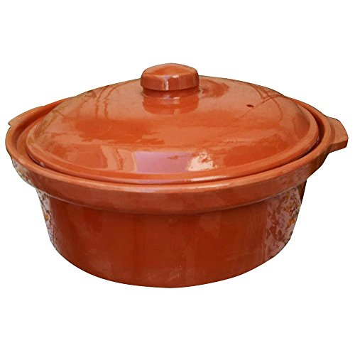 Casserole Dish, 10 inch Cooking Tureen, ClayCovered Casserole for Slow Cooking, 3 Quarts, Clay