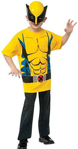Classic Wolverine Costumes (Rubies Marvel Universe Classic Collection Wolverine Costume T-Shirt with Mask, Child Large)