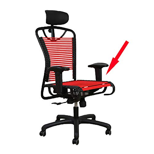 Sdoutech Double Side Replacement Black & Red Cord for Bungee Office Chair with Screw[10 Pieces] (Red) (Chair Bungee Cord Office)