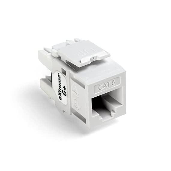 Leviton Extreme QuickPort Connector 1 Connector body is high-impact, fire-retardant plastic rated UL 94V-4 TIA/EIA channel performance limits total length of patching and equipment cords to 32 feet (10 meters) per TIA/EIA-568-B 14 colors for color-coding or organization; available in six standard lengths
