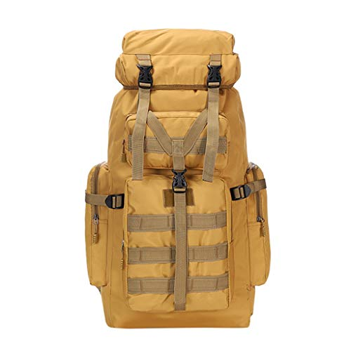 Zlolia Steel frame 75 liter large capacity outdoor mountaineering bag Outer waterproof travel backpack camouflage shoulder ()