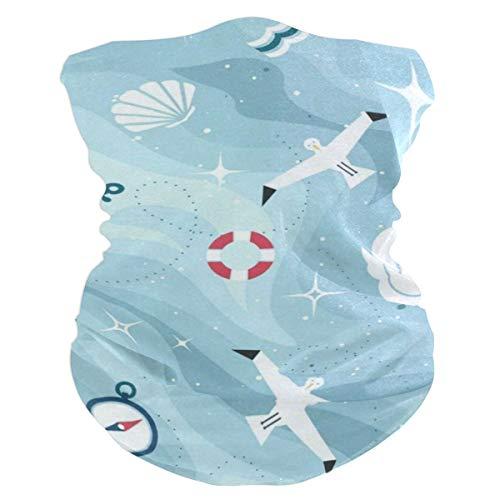 Ocean SeGulls Compass Adventure (2) Outdoor Magic Headband Multifunctional Elastic Seamless BandanScarf UV Resistence Sport Headwear