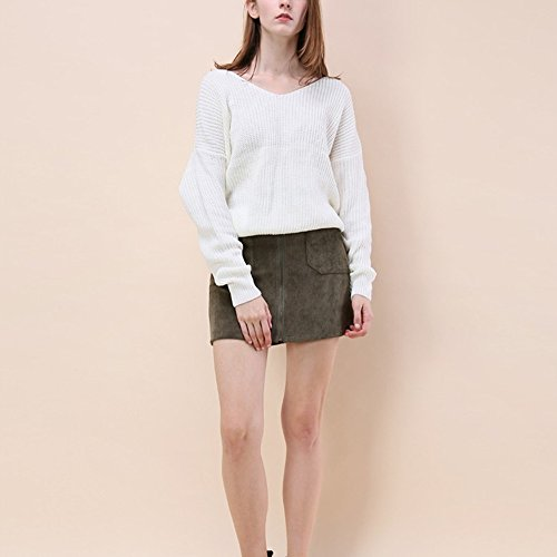 Bliefescher V Crois Sweater Femme Sexy Col wqz4Sw