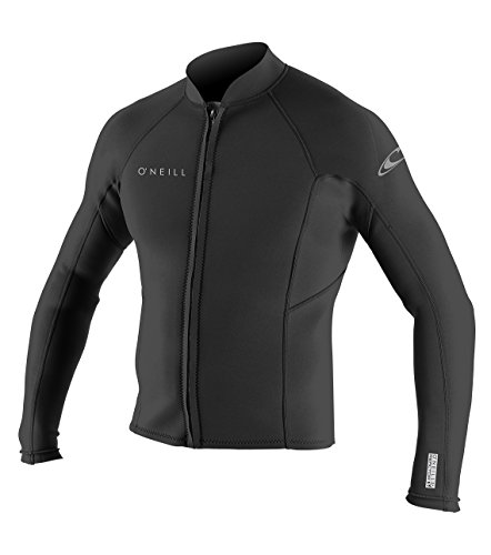 O'Neill Men's Reactor-2 2mm Front Zip Long Sleeve Jacket, Black, (Mens Reactor)