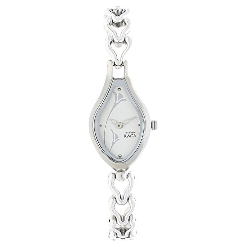 - Titan Raga Women's Bracelet Watch | Quartz, Water Resistant | Silver Band and White Dial