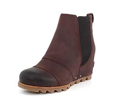 Sorel Lea Wedge Boot - Women's Redwood/Black, 5.0