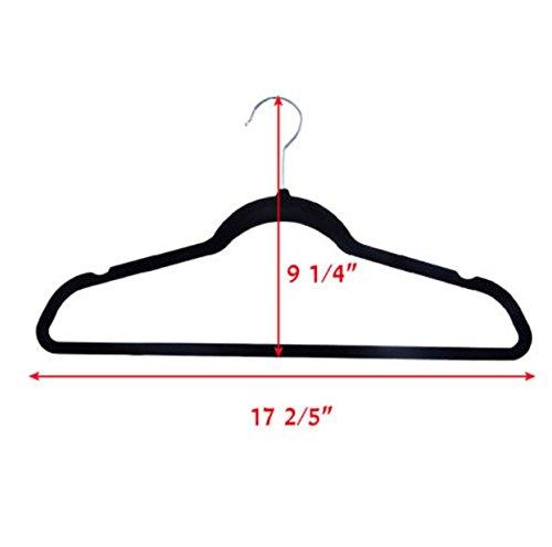 60 PCS Non Slip Velvet Clothes Suit Pants 4 colors the Shape Suit/Shirt/Pants Hangers Multicolor by Phumon567 (Image #3)