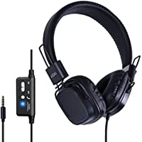 JAZZA ANC J3 Active Noise Cancelling Over-ear Headphones,18H Battery Time, Black, Wired