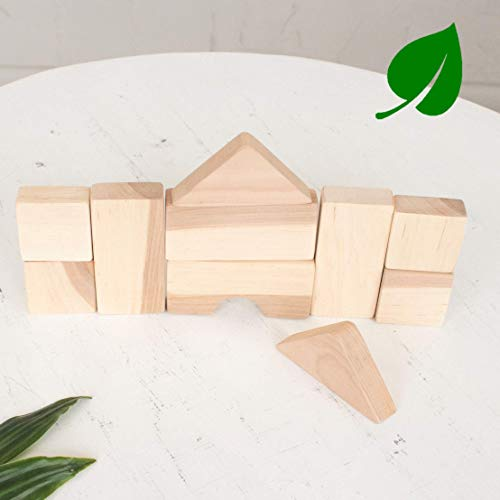 - Set of 10 pcs Handmade Wooden Blocks by LanaCrocheting - Natural Untreated Wood - Education - Educational Toy - Blocks Montessori Toy - Baby Toy - Natural Wood Toy Pyramid - motor skills