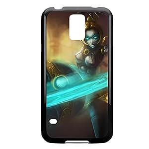 Orianna-001 League of Legends LoLDiy For SamSung Galaxy S4 Mini Case Cover Plastic Black