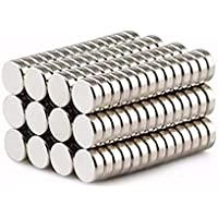 BESTPICKS 50 pcs Round Disc 6 mm x 2 mm Rare Earth Neodymium DIY Craft Project Fridge Magnet Magnets
