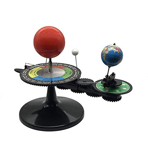 aikeec English Solar System Sun Earth Moon Orbital Planetarium Model with Light Kids Educational Geography Map Popular Science Astronomy Demo