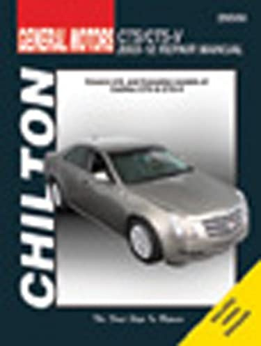chilton total car care cadillac cts cts v 2003 2012 repair manual rh amazon com 2008 Cadillac CTS 2003 cadillac cts service manual pdf