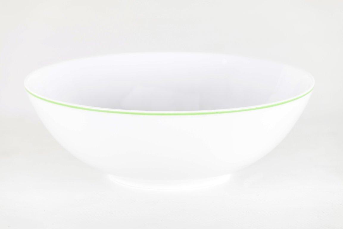Rumoroso Plato Hondo 22 cms. Coup de Porcelana Filo Verde: Amazon.es: Hogar