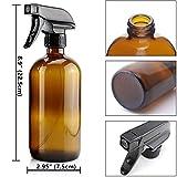 Glass Spray Bottle, Niuta 16 OZ Amber Glass Empty