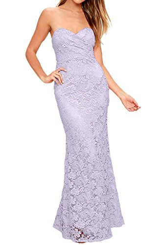 Gown Dress Wedding Party Dress Avril Evening Strapless Lilac Lace Elegant Sheath xn1c8T
