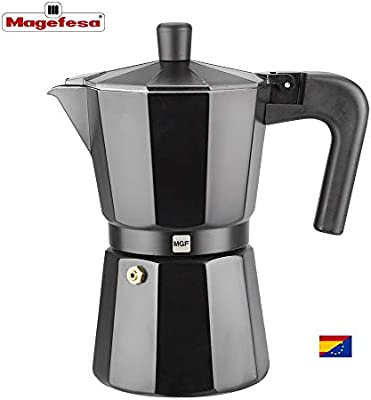 M MAGEFESA - Cafetera Modelo Kenia de Aluminio Grueso (3 Tazas)