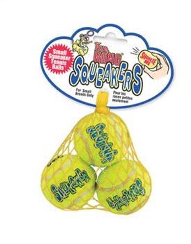 KONG Squeaker Tennis Balls, Small Dog Toy, 3-Pack, My Pet Supplies