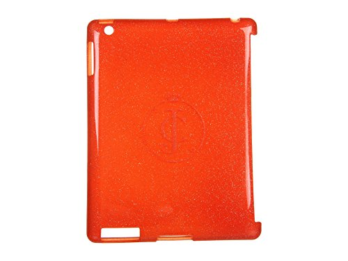 Juicy Couture Rubber Orange Glitter Gelli iPad 3 Shell Case Cover (Ipad Juicy Case Couture 3)