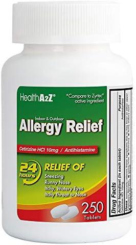 HealthA2Z Allergy Cetirizine Compare Ingredient
