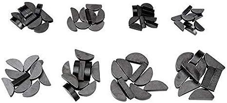 Ladieshow Woodruff Key Kit,80Pcs Stainless Steel Semicircular Woodruff Key set with storage Box,Assortment Various Sizes 10pcs per Size